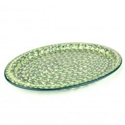 Frilled platter 37.5/26.5cm