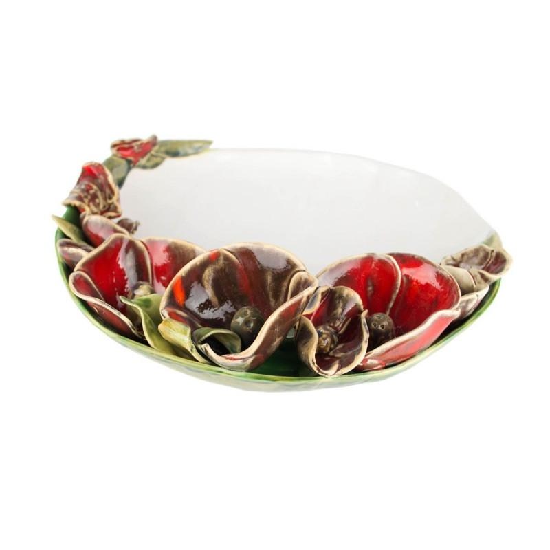 Flowery Rim Platter  35cm