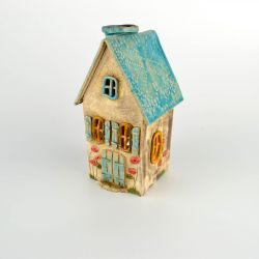 Tea light house - small